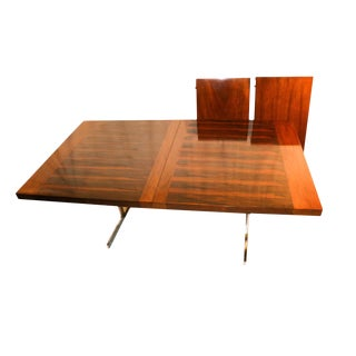 Alfred Hendrickx Belgian Mid Century Rosewood Expandable Dining Table For Sale