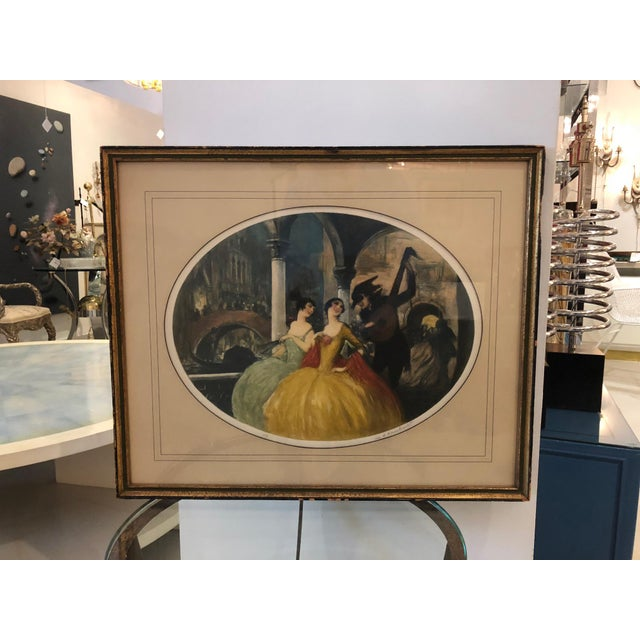 """""""Venice Carnival"""" Aquatint by William Lambrecht For Sale - Image 4 of 7"""