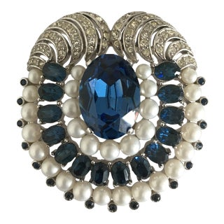 Vintage Trifari Art Deco Style Brooch For Sale
