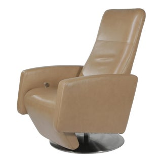 Modern Kintec-Solution Piro Reclining Leather Lounge Chair For Sale