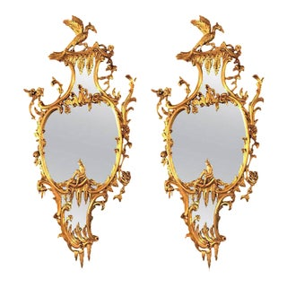 George II Style Giltwood Wall or Console Mirrors - A Pair