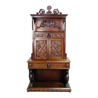 20th Century Italian Renaissance Style Secretary Desk For Sale