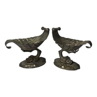 Pair of Silver Bronze Dishes For Sale