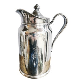 1948 Silver Plated Insulated Pitcher From the Biltmore Hotel in Santa Barbara Ca For Sale