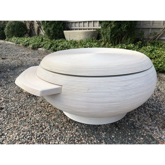 1970s Gabriela Crespi Style Mid-Century Modern Round Cocktail Table For Sale - Image 5 of 13