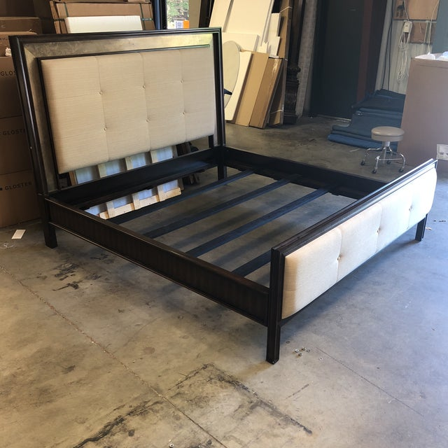 Traditional Hickory White King Bed For Sale - Image 3 of 12
