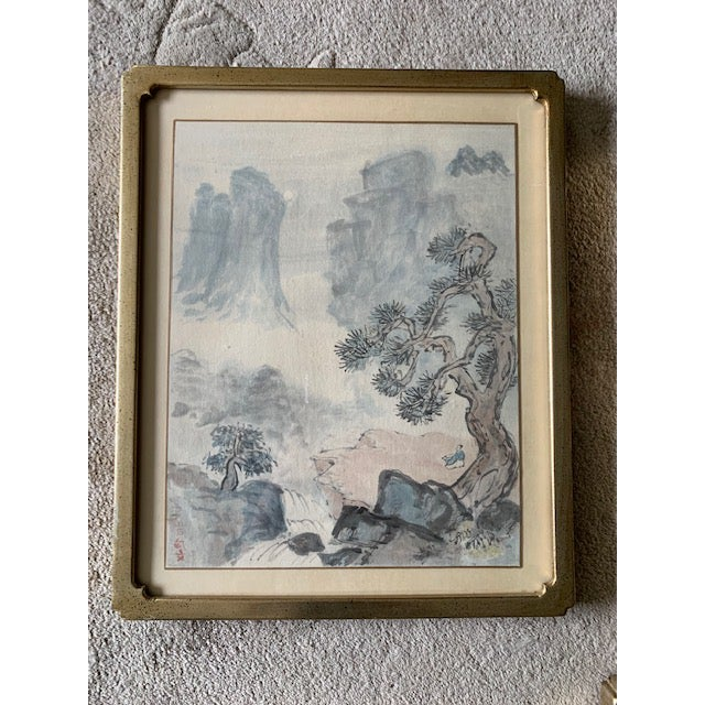 This is a set of 4 framed watercolor landscape paintings. The pieces are from the early 20th century. Artist signed. I...