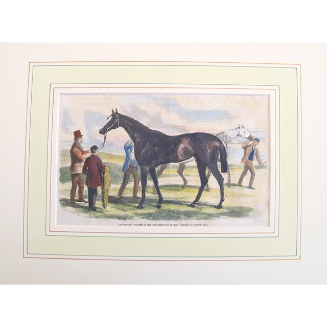 English Traditional 1860 Antique British Equine Print For Sale - Image 3 of 3