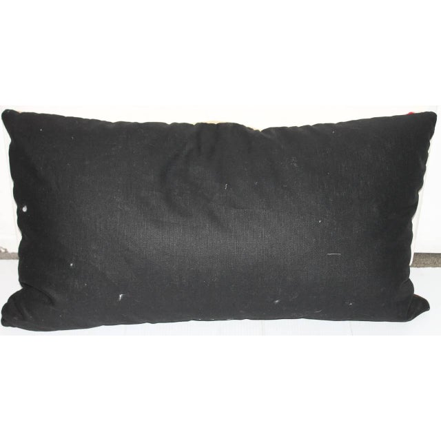 American Early Geometric Navajo Weaving Bolster Pillow For Sale - Image 3 of 6