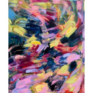 """""""Where We Are"""" Contemporary Abstract Expressionist Oil Painting by Monica Shulman For Sale"""
