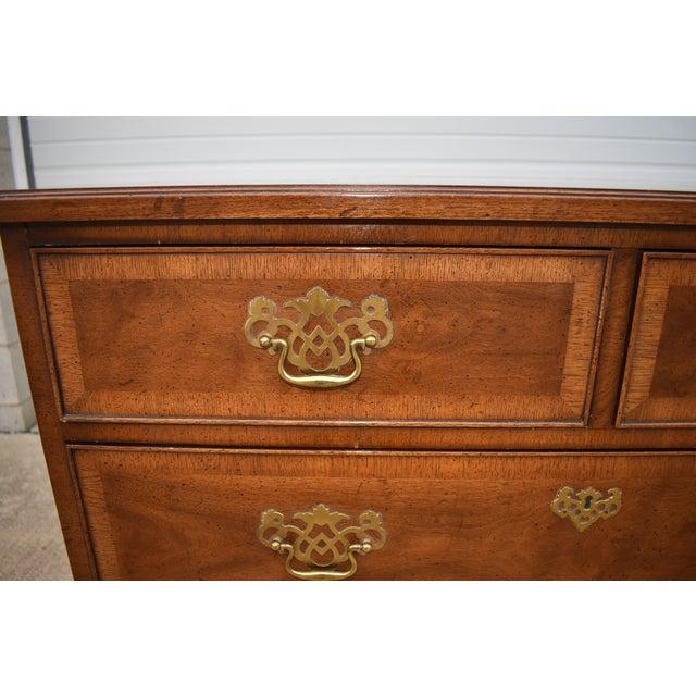 1970s 18th Century Henredon Walnut Chippendale Portfolio 8 Drawer Double Dresser For Sale - Image 5 of 12
