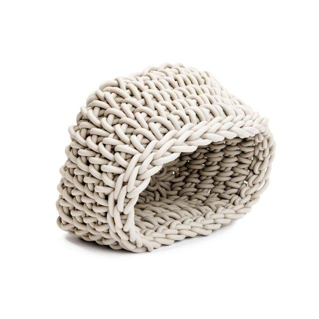 Contemporary Hand-Knit Quadrato Neoprene Basket, Neo For Sale - Image 3 of 5