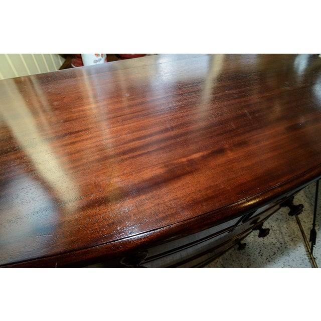 Brown Mahogany Bow Front Chest For Sale - Image 8 of 10