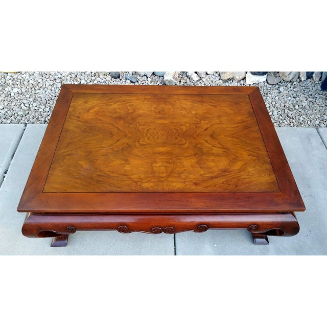 Baker Furniture Company 1980s Traditional Baker Furniture Coffee Table For Sale - Image 4 of 6