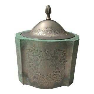 Mid 1800s Silver Tea Caddy From India For Sale