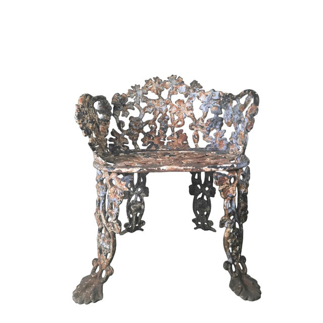 Iron Antique Cast Victorian Garden Chairs A Pair For Image 7 Of