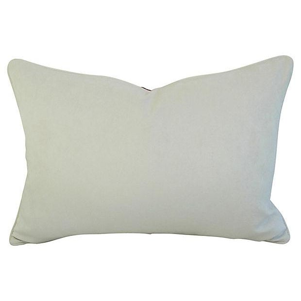 Large custom-tailored Italian Mariano Fortuny pillow. Pillow front is a vintage/never used premium Egyptian cotton fabric...