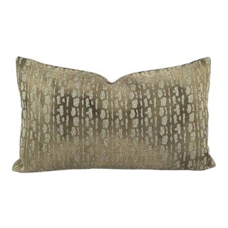 "S. Harris Monday Muse in Titan Lumbar Pillow Cover - 12"" X 20"" For Sale"