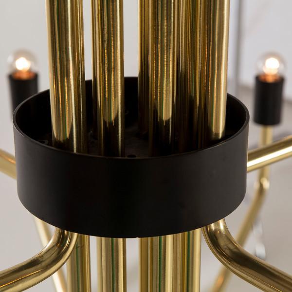 2010s Modern Le Marais 12 Light Brass Chandelier For Sale - Image 5 of 7