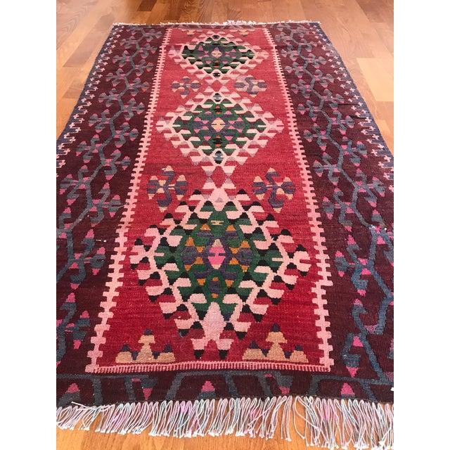 1960s Vintage Kilim Handmade Rug-2′8″ × 4′10″ For Sale - Image 4 of 11