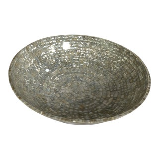 Contemporary Ivory Mother-Of-Pearl Large Decorative Bowl For Sale