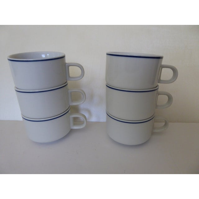 Mid-Century Modern 1973 American Airlines Coffee/Tea Cups - Set of 6 For Sale - Image 3 of 7