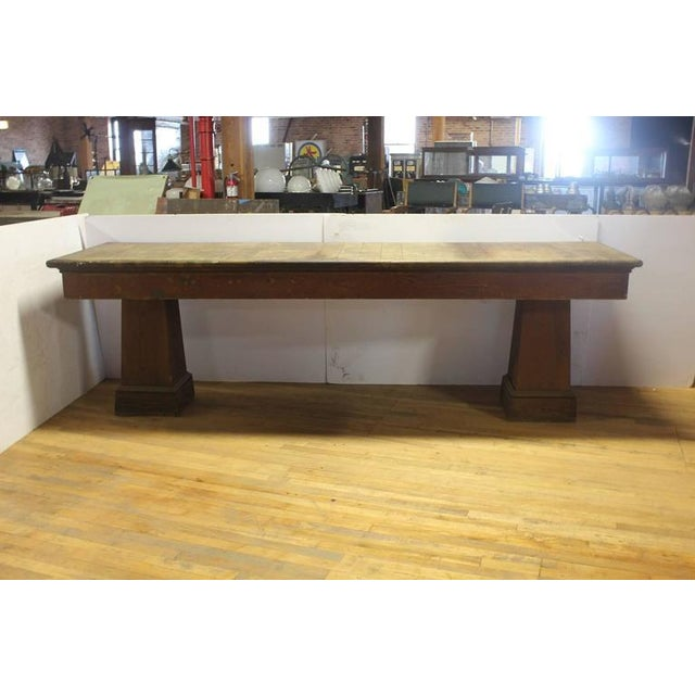 1900s American department store display table. This piece would look great in a rustic style home.