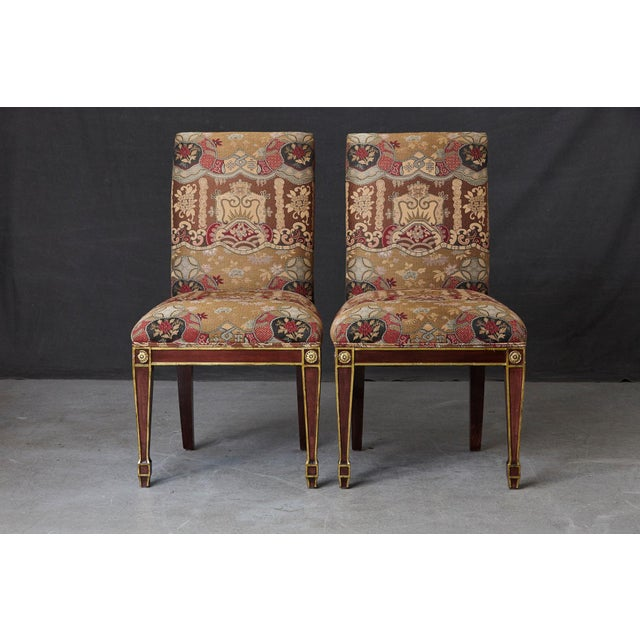 Set of 6 Regency Dining Chairs With Gild Elements For Sale - Image 10 of 13
