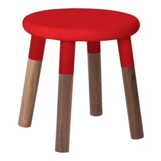Peewee Kids Chair in Walnut With Red Finish For Sale
