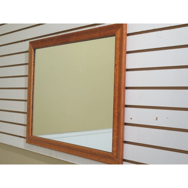 Birdseye Maple Framed Small Rectangular Mirror Age: Approx: 20 Years Old Details: Quality Construction Condition: Offered...