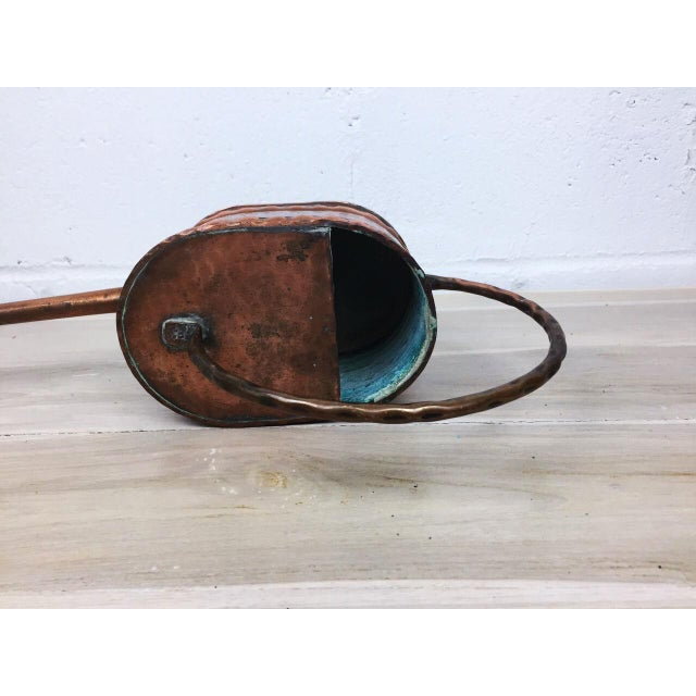 Vintage French Country Rustic Copper Flower Watering Pot - Image 9 of 9