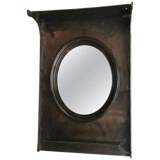 Industrial Custom Gunmetal Steel Entryway Foyer Mirror For Sale
