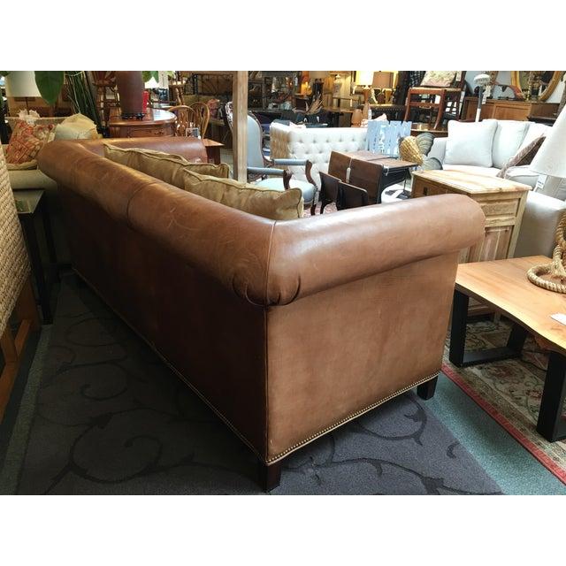 Ralph Lauren Brompton Leather Sofa - Image 5 of 9