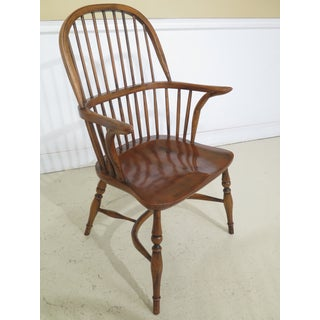 English Made Windsor Style Arm Dining Chairs - Set of 8 Preview