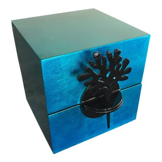Turquoise Lacquer Jewelry Box