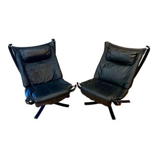 1960s Sigurd Ressell Highback Falcon Lounge Chairs - a Pair For Sale
