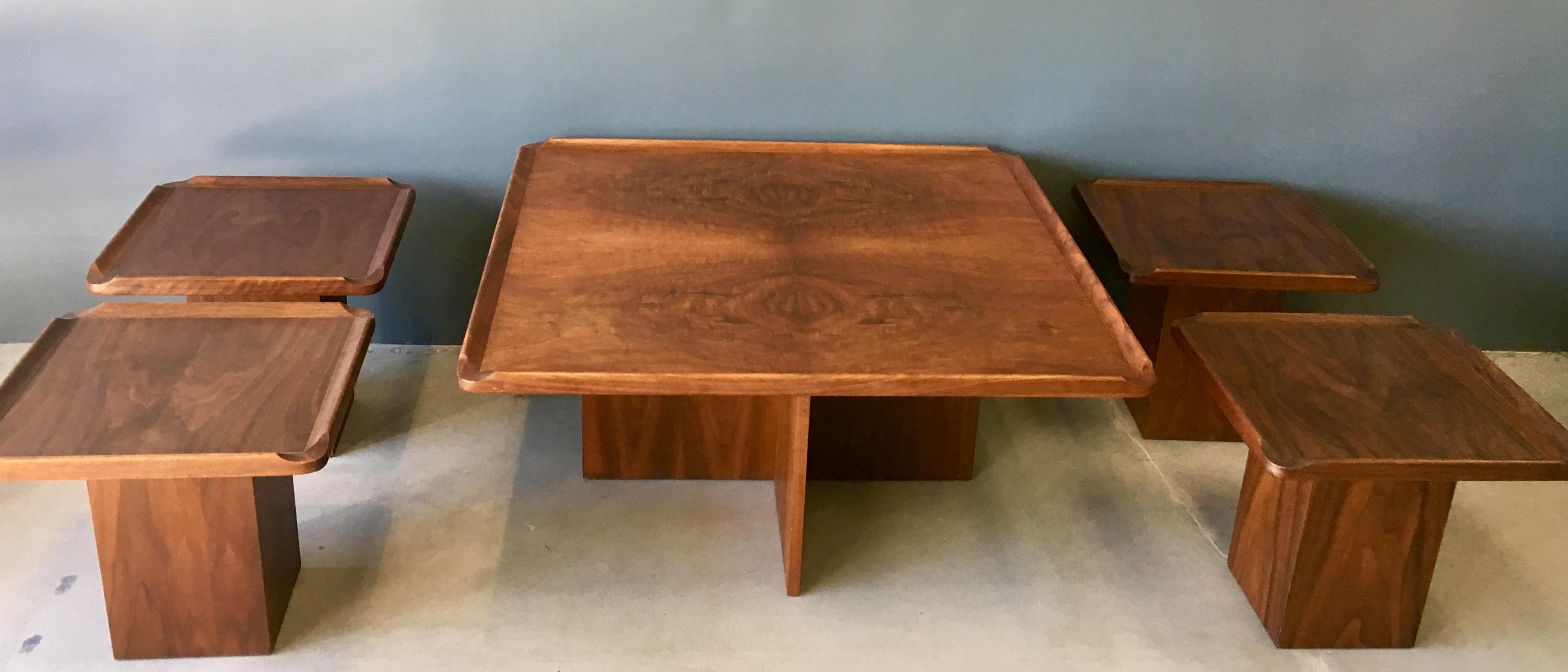 Exceptionnel Brown Saltman Mid Century Coffee U0026 Nesting Tables   5 Pieces   Image 2 Of