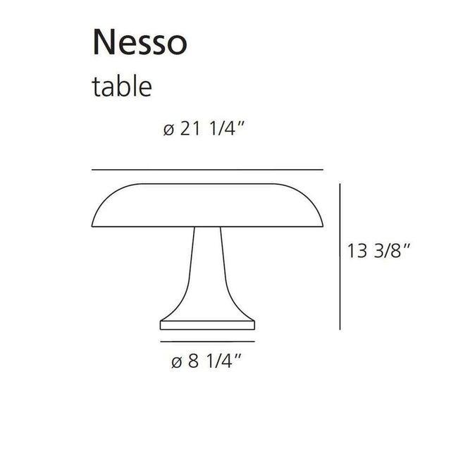 Artemide Giancarlo Mattioli 'Nesso' Table Lamp in Orange for Artemide For Sale - Image 4 of 5