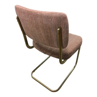 1980s Vintage Chromcraft Style Brass Cantilever Chair For Sale