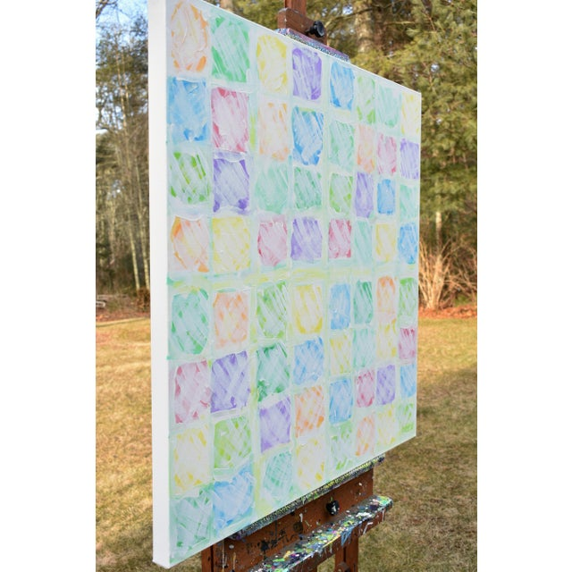 """Canvas """"Snow in the Garden"""", Contemporary Abstract Painting by Stephen Remick For Sale - Image 7 of 10"""