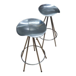 1990s Vintage Pepe Cortes Jamaica Swivel Stools- A Pair For Sale