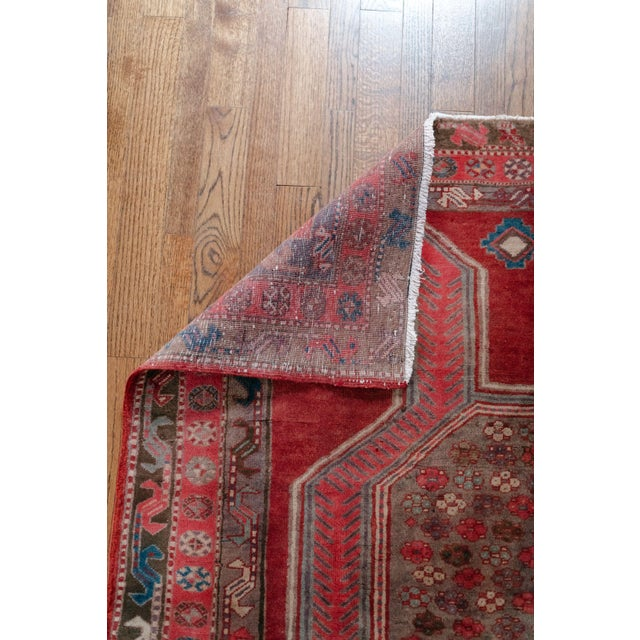"""1940s 1940s Vintage Nomadic Persian Rug-4'8'x9'7"""" For Sale - Image 5 of 13"""