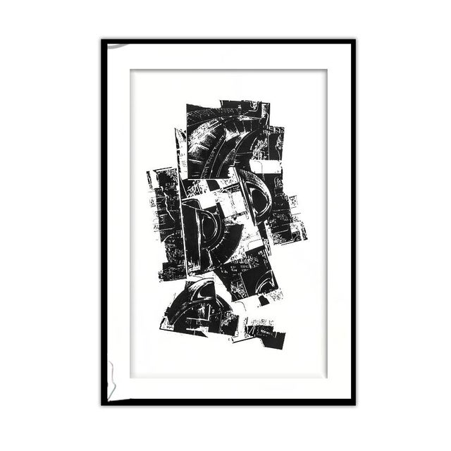 """White Don Werner """"Rotunda"""" Framed Lithograph For Sale - Image 8 of 8"""