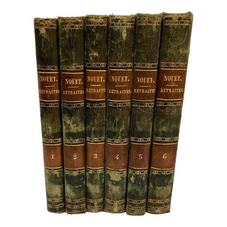 Mid 19th Century French Essays Bound Volumes- Set of 6 For Sale