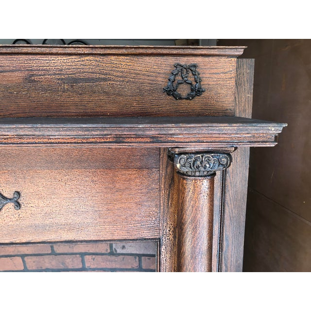 Early 20th Century Fireplace Surround Mantel For Sale In Cleveland - Image 6 of 13