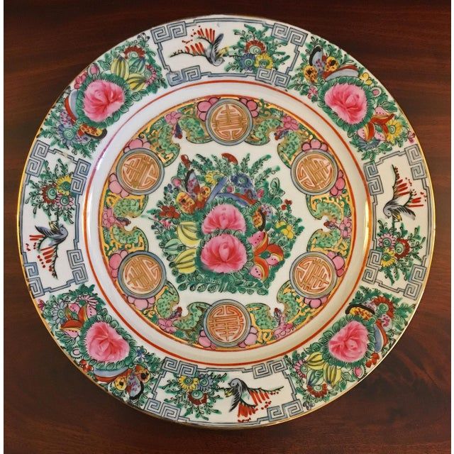 Mid 20th Century Vintage Famille Rose Medallion Decorative Plates - Set of 3 For Sale - Image 5 of 13