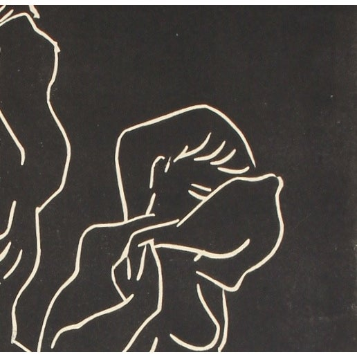Mid-Century Woodcut Relief Print - Image 2 of 2