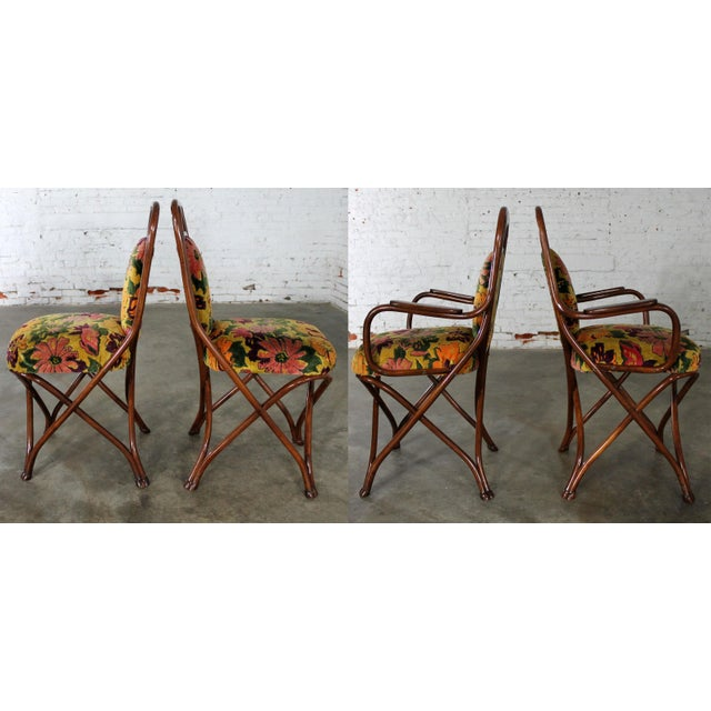 Antique Gebruder Thonet Bentwood Chairs - Set of 4 For Sale - Image 6 of 11