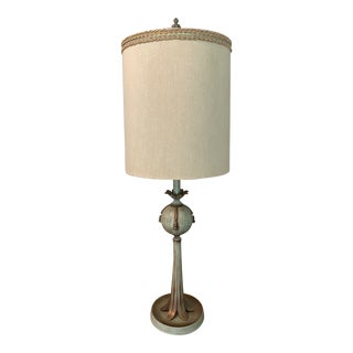 Mid Century Green Table Lamp For Sale