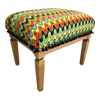 Contemporary Neoclassical Style Giltwood Ottoman For Sale